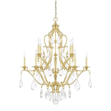 Willa Arlo Interiors Destrey 10-Light Crystal Chandelier