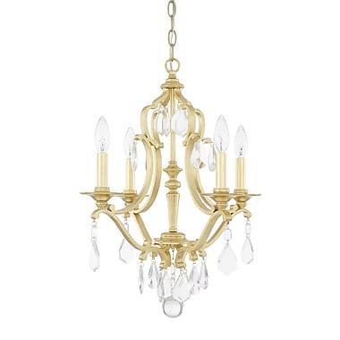 Willa Arlo Interiors Destrey 4-Light Crystal Chandelier