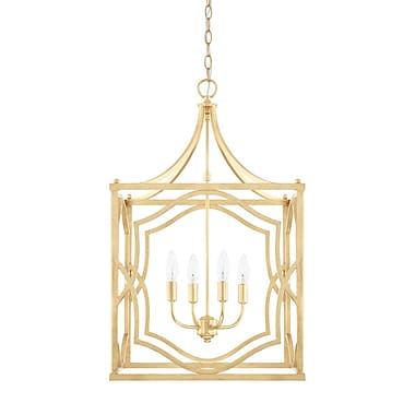 Willa Arlo Interiors Destrey 4-Light Metal Foyer Pendant
