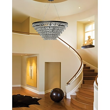 Willa Arlo Interiors Fabrice Tapered Glass Drop Crystal Chandelier