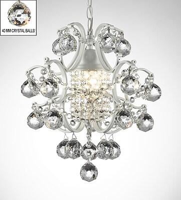 Willa Arlo Interiors Evon 1-Light Crystal Ball LED Mini Pendant