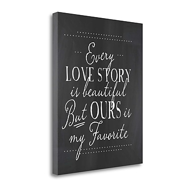 Tangletown Fine Art 'Every Love Story' Textual Art on Canvas; 28'' H x 23'' W
