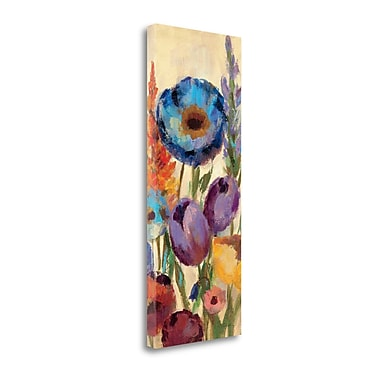 Tangletown Fine Art 'Garden Hues Panel II' Print on Canvas; 40'' H x 16'' W