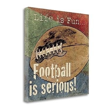 Tangletown Fine Art 'Football' Textual Art on Canvas; 24'' H x 24'' W