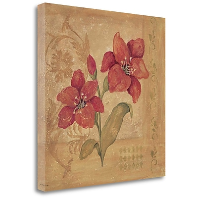 Darby Home Co 'Day Lilies' by Jo Moulton Framed Acrylic Painting Print on Wrapped Canvas
