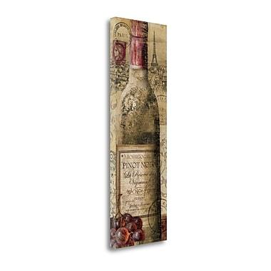 Tangletown Fine Art 'European Wines II' Graphic Art Print on Canvas; 48'' H x 16'' W