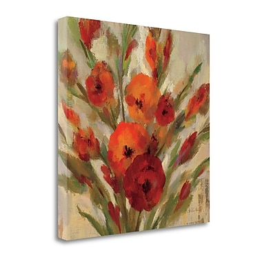 Tangletown Fine Art 'Crimson Blooms I' Print on Wrapped Canvas; 24'' H x 24'' W