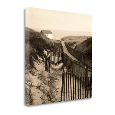 Tangletown Fine Art 'Dune Fence' Photographic Print on Wrapped Canvas; 25'' H x 25'' W