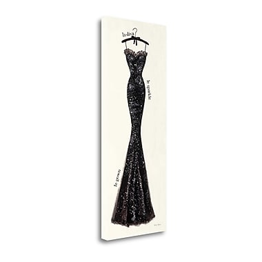 Tangletown Fine Art 'Couture Noir IV' Graphic Art Print on Canvas; 32'' H x 13'' W