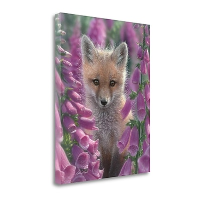 Tangletown Fine Art 'Fox Gloves' Photographic Print on Canvas; 36'' H x 28'' W