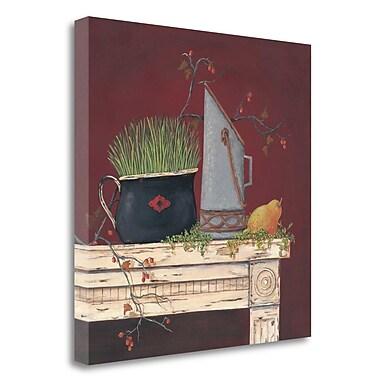 Tangletown Fine Art 'Farm Table' Print on Canvas; 25'' H x 25'' W