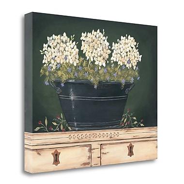 Tangletown Fine Art 'Floral w/ Hydrangea' Print on Canvas; 18'' H x 22'' W