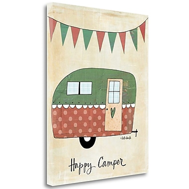 Tangletown Fine Art 'Happy Camper' Graphic Art Print on Canvas; 24'' H x20'' W