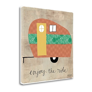 Tangletown Fine Art 'Enjoy the Ride' Graphic Art Print on Canvas; 23'' H x 23'' W