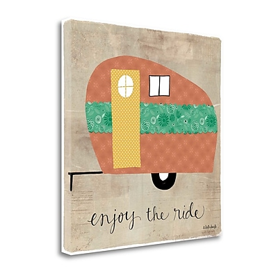 Tangletown Fine Art 'Enjoy the Ride' Graphic Art Print on Canvas; 29'' H x 29'' W