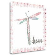 Zoomie Kids 'Dragonfly Dream' Graphic Art Print on Wrapped Canvas; 26'' H x 26'' W