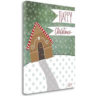 Tangletown Fine Art 'Happy Christmas' Graphic Art Print on Canvas; 28'' H x23'' W