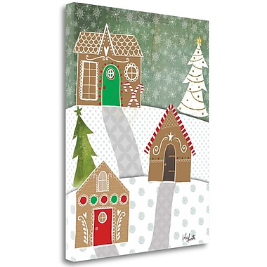 Tangletown Fine Art 'Gingerbread Houses' Graphic Art Print on Canvas; 32'' H x 26'' W