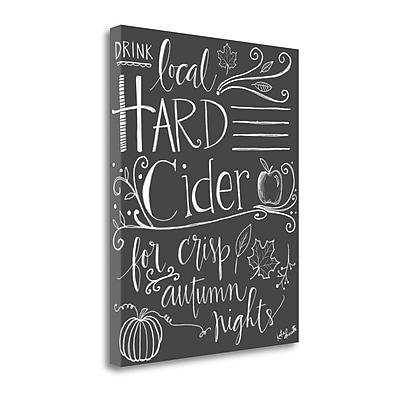 Tangletown Fine Art 'Hard Cider' Textual Art on Canvas; 20'' H x 16'' W WYF078281629591