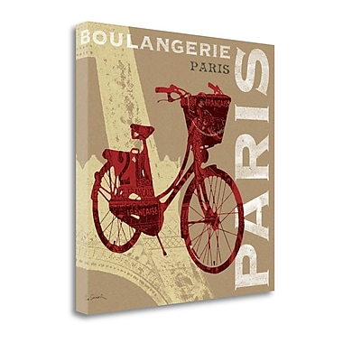 Tangletown Fine Art 'Cycling in Paris' Graphic Art Print on Wrapped Canvas; 20'' H x 20'' W