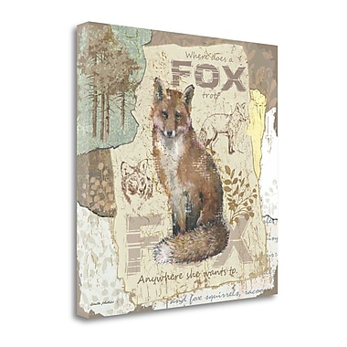 Tangletown Fine Art 'Fox Trot' Graphic Art Print on Canvas; 26'' H x 26'' W