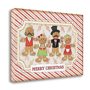 Tangletown Fine Art 'Gingerbread Christmas' Graphic Art Print on Canvas; 24'' H x 36'' W