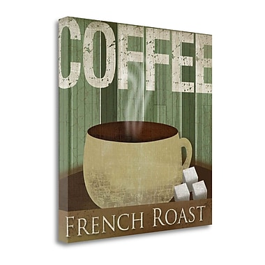 Tangletown Fine Art 'French Roast' Graphic Art Print on Canvas; 22'' H x 22'' W