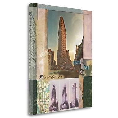Tangletown Fine Art 'Flatiron Collage' Graphic Art Print on Canvas; 22'' H x 18'' W
