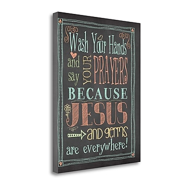 Tangletown Fine Art 'Germs and Jesus' Textual Art on Canvas; 23'' H x 18'' W