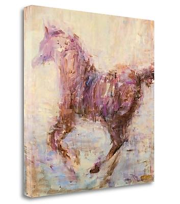 Tangletown Fine Art 'Elegant Run' Print on Wrapped Canvas; 35'' H x 35'' W
