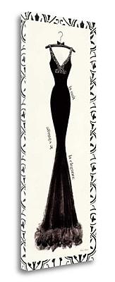 Tangletown Fine Art 'Couture Noir I w/ Border' Graphic Art Print on Canvas; 32'' H x 13'' W