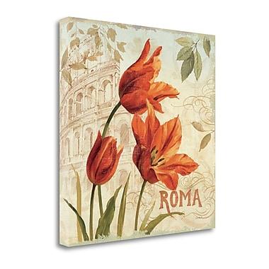 Tangletown Fine Art 'European Flowers I' Graphic Art Print on Canvas; 24'' H x 24'' W