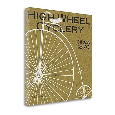 Tangletown Fine Art 'High Wheel Cyclery' Print on Canvas; 24'' H x 24'' W