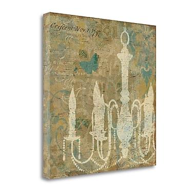 Tangletown Fine Art 'Faded Ornate II Aqua' Graphic Art Print on Canvas; 20'' H x 20'' W