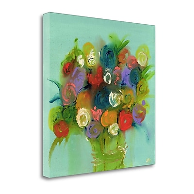 Tangletown Fine Art 'Finger Painting' Print on Canvas; 25'' H x 25'' W