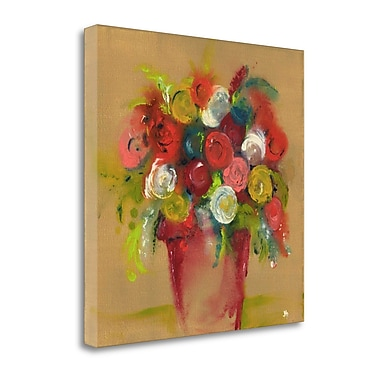 Tangletown Fine Art 'Finger Painting' Print on Canvas; 35'' H x 35'' W