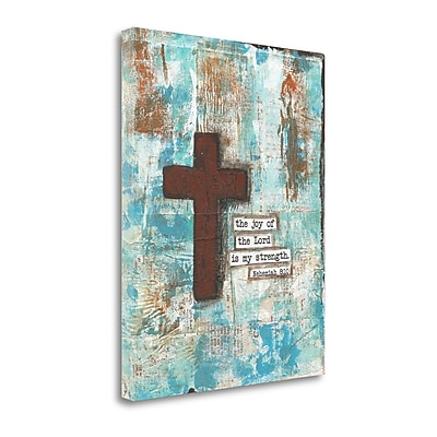 Tangletown Fine Art 'Cross I' Graphic Art Print on Wrapped Canvas; 20'' H x 16'' W