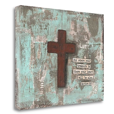 Tangletown Fine Art 'Cross IV' Graphic Art Print on Wrapped Canvas; 22'' H x 28'' W