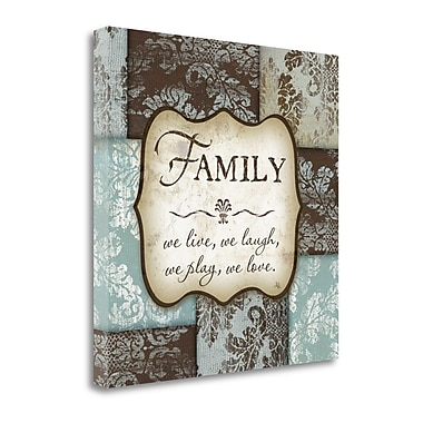 Tangletown Fine Art 'Family' Textual Art on Canvas; 24'' H x 24'' W