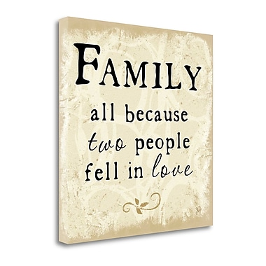 Tangletown Fine Art 'Family Fell in Love' Textual Art on Canvas; 24'' H x 24'' W
