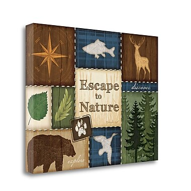 Tangletown Fine Art 'Escape to Nature' Graphic Art Print on Canvas; 24'' H x 32'' W