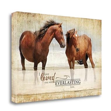 Tangletown Fine Art 'Everlasting Love' Graphic Art Print on Canvas; 23'' H x 34'' W