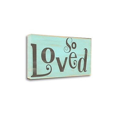 Tangletown Fine Art 'So Loved' Textual Art on Canvas; 14'' H x 29'' W