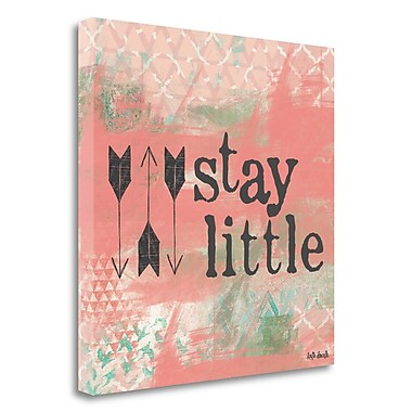 Tangletown Fine Art 'Stay Little - Pink' Textual Art on Canvas; 23'' H x 23'' W