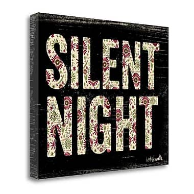Tangletown Fine Art 'Silent Night' Textual Art on Canvas; 24''H x 20'' W
