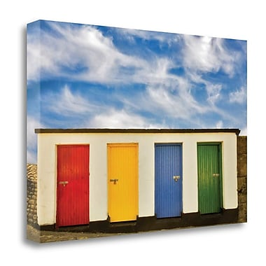 Tangletown Fine Art 'Painted Doors I' Photographic Print on Wrapped Canvas; 16'' H x 24'' W
