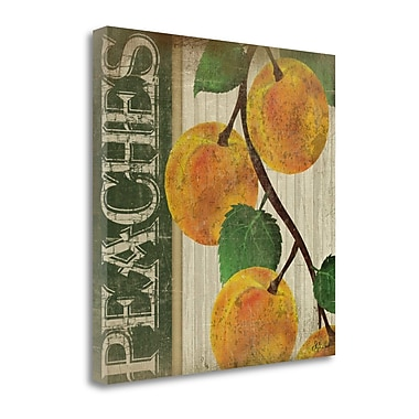 Tangletown Fine Art 'Peaches' Vintage Advertisement on Wrapped Canvas; 24'' H x 24'' W