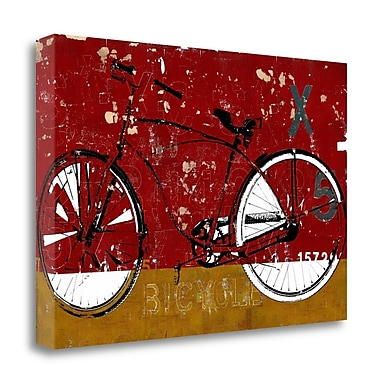 Tangletown Fine Art 'Red Bicycle' Graphic Art Print on Canvas; 16'' H x 24'' W
