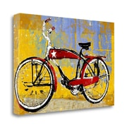 Tangletown Fine Art 'Red Bike w/ Star' Graphic Art Print on Canvas; 26'' H x 40'' W