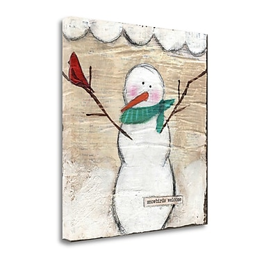Tangletown Fine Art 'Snowbird Snowman' Graphic Art Print on Canvas; 22'' H x 22'' W